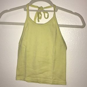 Yellow Urban Outfitters tank top